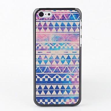 IPhone 5C için Renkli Çizgili Back Case
