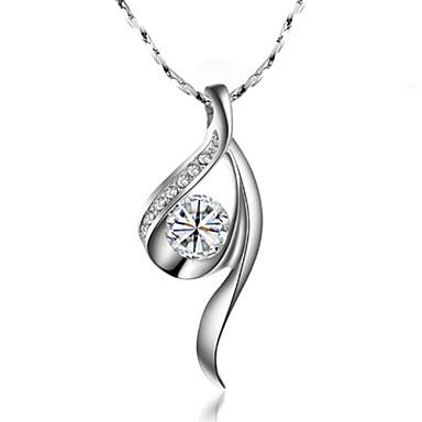 Gümüş Uçlu Kolyeler Altın Kaplama Düğün / Parti / Günlük Mücevher