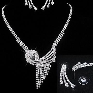 Damskie Zestawy biżuterii Kryształ Kryształ górski Imitacja diamentu Stop Kutas Ślubny Modny Ślub Impreza Codzienny Casual Náušnice