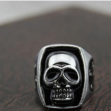 Yüzükler Skull shape Parti Günlük Spor Mücevher alaşım İfadeli Yüzükler9 Gümüş