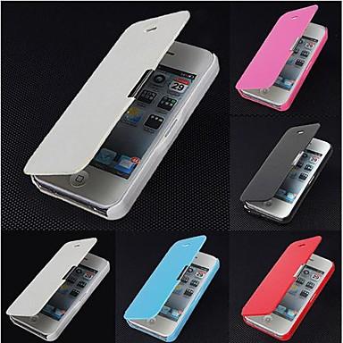 Кейс для Назначение iPhone 5 Apple Кейс для iPhone 5 Флип Матовое Магнитный Чехол Сплошной цвет Твердый Кожа PU для iPhone SE/5s iPhone 5