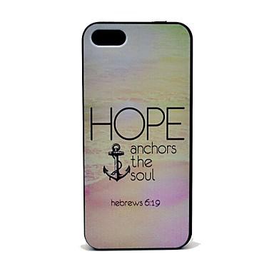 umut iphone 5 / 5s iphone durumlarda için ruh desen sabit durumda çapa