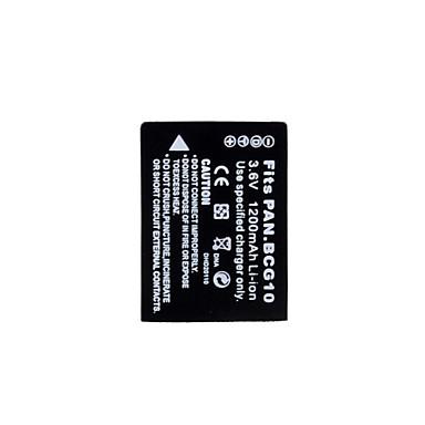 batterie de vidéo numérique remplace BCG10E Panasonic TZ7 pour panasonic et plus (3.6v, 1200mah)