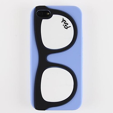 Glasses Design Silicone Soft Case for iPhone 5/5S (Optional Colors)
