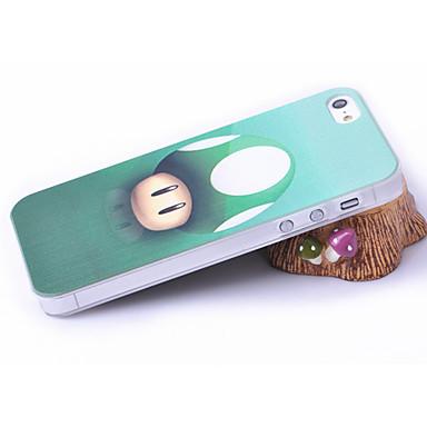 Cogumelo Cabeça Padrão volta caso de plástico para iPhone 5/5S
