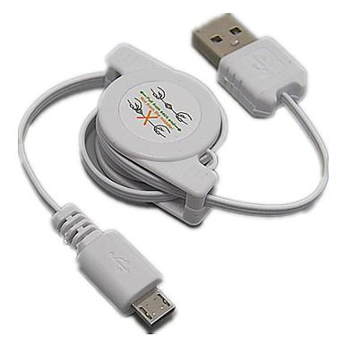 Выдвижной USB 2.0 для Micro USB-кабели синхронизация данных зарядки для HTC Samsung LG