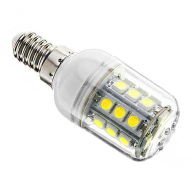 3W 350-400 lm E14 LED Mısır Işıklar T 27 led SMD 5050 Kısılabilir Serin Beyaz AC 220-240V