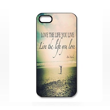 Love the Life You Live Pattern Plastic Hard Case for iPhone 5/5S