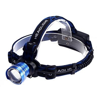 Kafa Lambaları Far LED 1200 lm 3 Kip Cree XM-L T6 Zoomable Şarj Edilebilir Su Geçirmez Süper Hafif Kompakt Boyut Küçük Boy