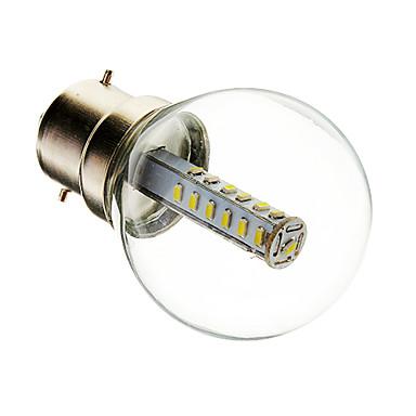 180-210 lm B22 LED-bollampen G45 25 leds SMD 3014 Decoratief Warm wit Koel wit AC 220-240V