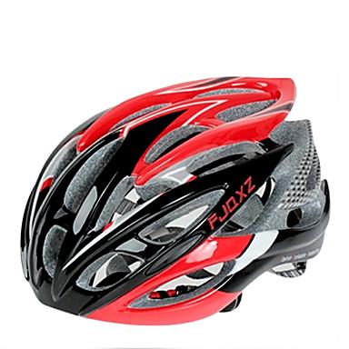 FJQXZ Yetişkinler Bisiklet kaskı 26 Delikler Darbeye Dayanıklı EPS, PC Yol Bisikletçiliği / Bisiklete biniciliği / Bisiklet - Siyah / Kırmızı Erkek / Kadın's