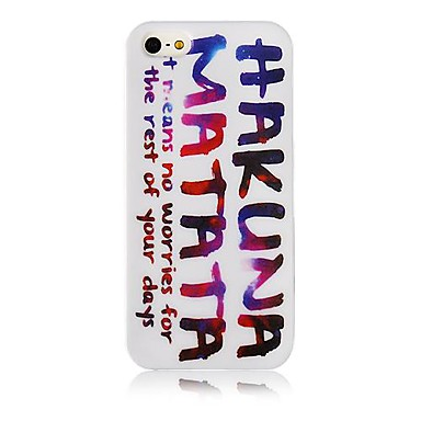 Fargerik Letter Pattern Silicone Soft case for iPhone5/5s
