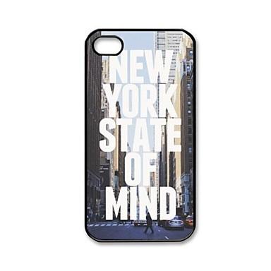 New York State of Mind mønster plast hårdt Case for iPhone 4/4S