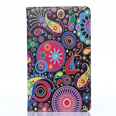 Samsung Galaxy Tab 8.4 Pro T320 için Özel Tasarım Renkli Desen Full Body Kılıf