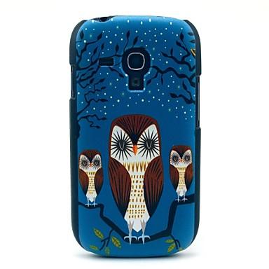 Pentru Samsung Galaxy Carcasă Model Maska Carcasă Spate Maska Bufniță PC Samsung S3 Mini