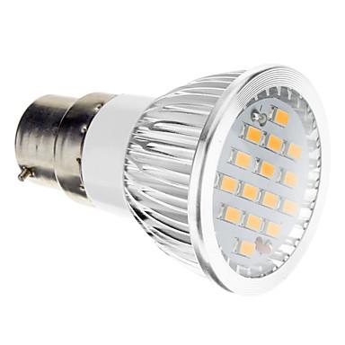 B22 Lâmpadas de Foco de LED 15 SMD 5730 380 lm Branco Quente 2700-3500 K AC 100-240 V