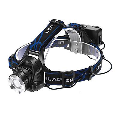 Kafa Lambaları Far LED 1200 lm 3 Kip Cree XM-L T6 Zoomable Ayarlanabilir Fokus Şarj Edilebilir Su Geçirmez Çok Fonksiyonlu