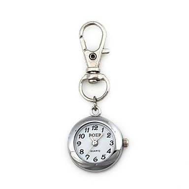 Unisex Round Pattern Quartz Metallic Keychain Watch   Cool Watches Unique Watches Fashion Watch
