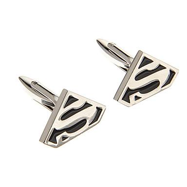 Moda S Sembol Şekli Gümüş Alaşım Kol Düğmesi (1 Çift)