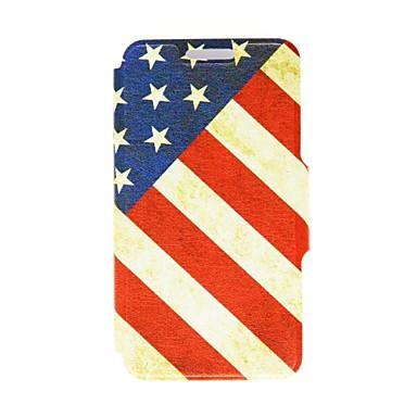 Kinston Nostalgic SUA model PU piele Full Body caz cu Stand pentru iPhone 5C
