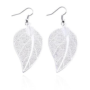 Damla Küpeler alaşım Leaf Shape Mücevher Için Günlük