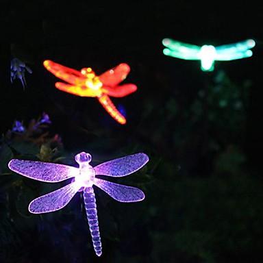 Solar Color-Schimbarea Dragonfly Garden Miza Light