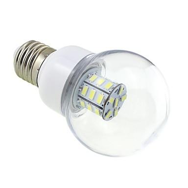 E26/E27 LED Küre Ampuller G60 27 LED'ler SMD 5730 Serin Beyaz 5500-6000lm 5500~6000KK AC 24 DC 24 DC 12 AC 12V
