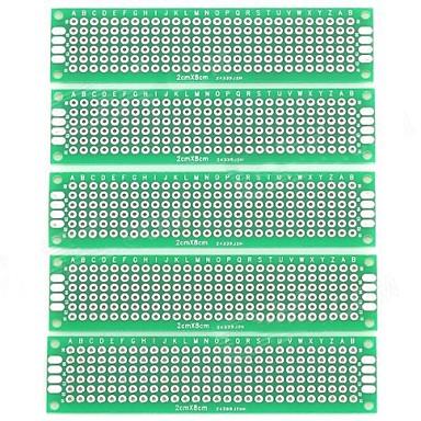 Dual-Side étamé KB conseils de bricolage - Argent + Vert (5 PCS)