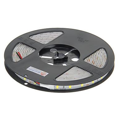 JIAWEN 5m Esnek LED Şerit Işıklar 300 LED'ler 5630 SMD Beyaz Su Geçirmez / Araçlar İçin Uygun / Kendinden Yapışkanlı 12 V 1pc