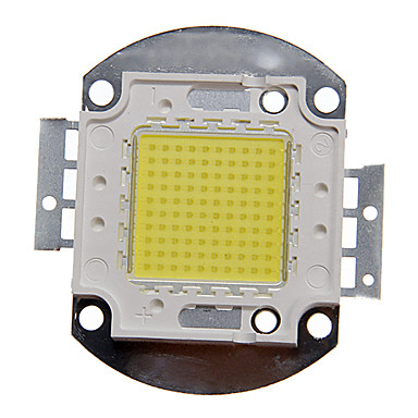 zdm ™ diy 100w yüksek güç 8000-9000lm soğuk beyaz ışık entegre LED modülü (32-35v)
