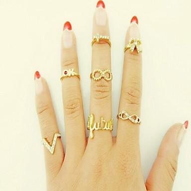 Women's Rhinestone / Imitation Diamond / Alloy Butterfly Circle / Animal / Infinity Knuckle Ring - Circle / Animal / Infinity