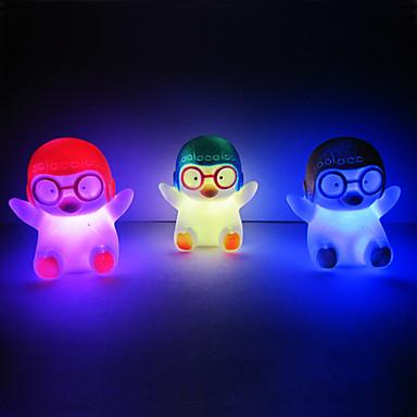 Penguen Rotocast Renk değiştirme Gece Lambası (Rastgele Renk)