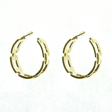 Halka Küpeler alaşım Circle Shape Mücevher Için Düğün Parti Günlük