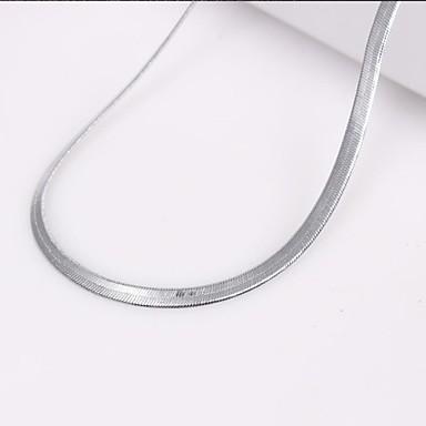 Gümüş Zincir Kolyeler alaşım Düğün / Parti / Günlük / Spor Mücevher