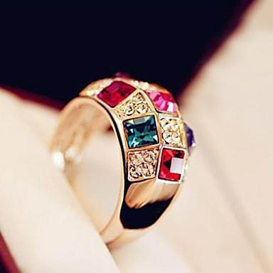 Yüzükler Düğün / Parti / Günlük Mücevher alaşım / Altın Kaplama Kadın Evlilik Yüzükleri6