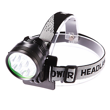 cheap Headlamps-Headlamps Headlight LED LED 7 Emitters 3500 lm 3 Mode with Battery and Charger Waterproof Adjustable Focus Camping / Hiking / Caving Everyday Use Cycling / Bike