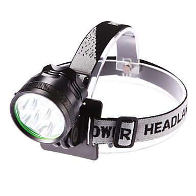 ieftine Frontale-Frontale Becul farurilor 3500 lm LED LED 7 emițători 3 Mod Zbor Cu Baterie și Încărcător Rezistent la apă Focalizare Ajustabilă Camping / Cățărare / Speologie Utilizare Zilnică Ciclism