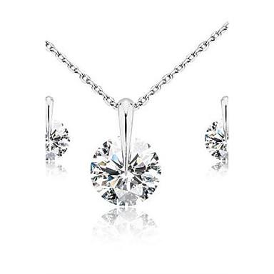 Seturi de bijuterii Clasic Nuntă Petrecere Zi de Naștere Logodnă Zilnic Casual Zirconiu Cubic Σκουλαρίκια Coliere