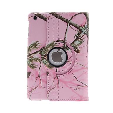 Pouzdro Uyumluluk iPad Mini 3/2/1 Satandlı 360° Dönüş Tam Kaplama Kılıf ağaç PU Deri için iPad Mini 3/2/1