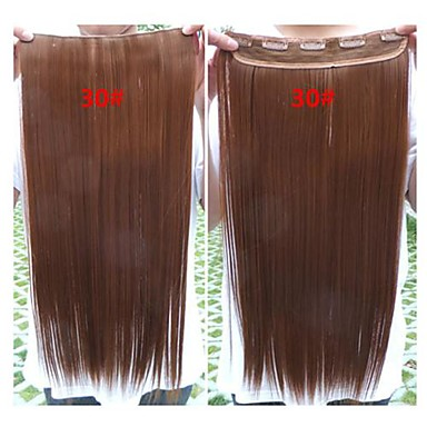 Hot Selling Colorful Wholesale Brown Clip in Hair Extension Synthetic Hair  24inch for Women  01545549 0126a5e0ae05