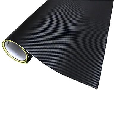 Car-Black için Merdia Dekorasyon 3D PVC Karbon Fiber Film Wrap Sticker (127 x 50cm)