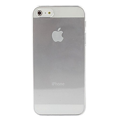 Coque Pour iPhone 5 Apple Coque iPhone 5 Transparente Coque Couleur unie Dur PC pour iPhone 5