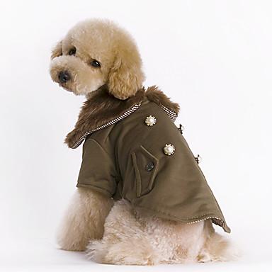 Köpek Paltolar Köpek Giyimi Sıcak Tutma Moda Solid Kahverengi Kostüm Evcil hayvanlar için