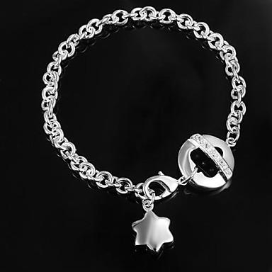 Kadın's Zincir & Halka Bileklikler Gümüş Kaplama Mücevher Günlük