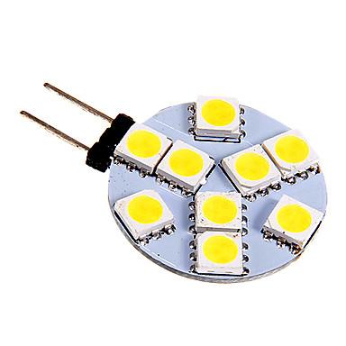 130-180 lm G4 LED Bi-pin Işıklar 9 led SMD 5050 Serin Beyaz DC 12V