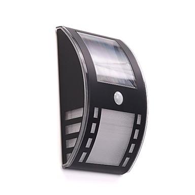 beyaz açık güneş enerjisi duvar 2 led ile pir motino sensörü ile ışık monte