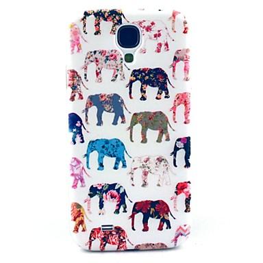 elefant cu model floare de acoperire greu de caz pentru i9500 Samsung Galaxy s4