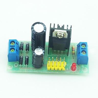 l7805 ac dc gerilim sabitleyici regülatörü modülü siyah