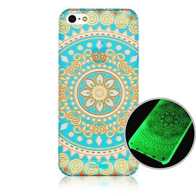 Pentru Carcasă iPhone 5 Carcase Huse Stralucire in intuneric Model Carcasă Spate Maska Mandala Greu PC pentru iPhone SE/5s iPhone 5