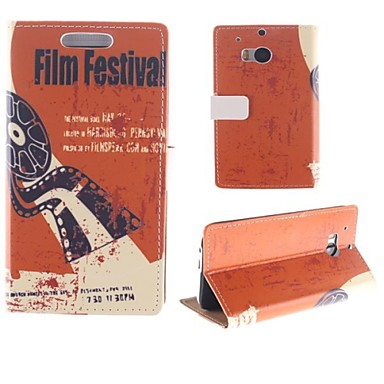 Old Films with Pattern PU Full Body Case with Card Slot for HTC One M8